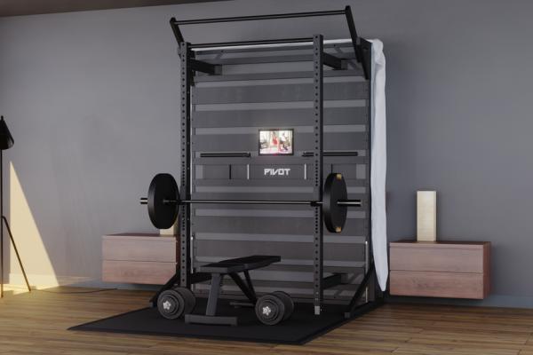 pivot bed rack gym