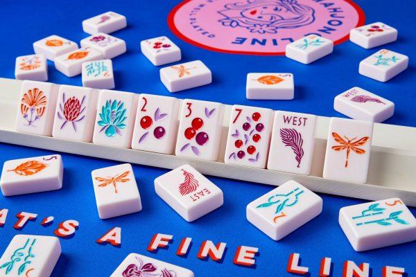 botanical line mahjong line